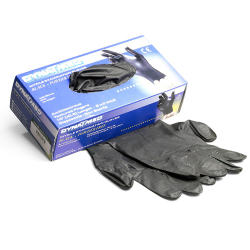 Dyna Med Black Nitrile Gloves (100 Per Box)