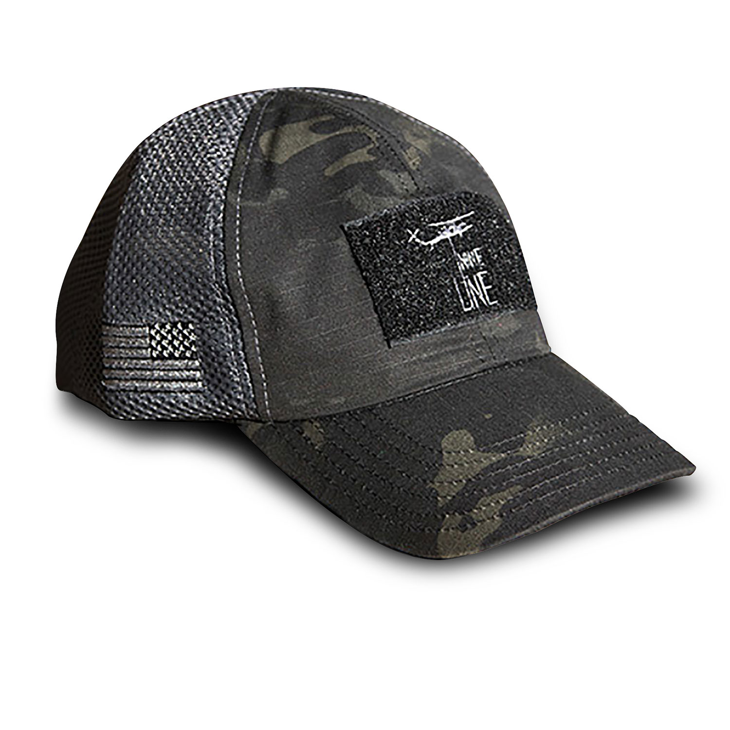 Nine Line Mesh Back Hat with Drop Line Logo