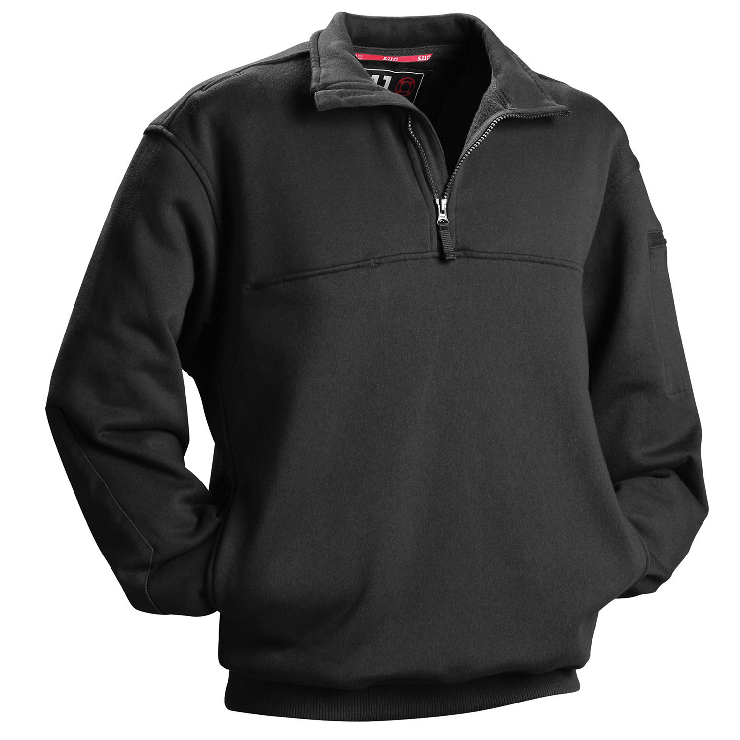 5.11 Tactical Firefighter Quarter-Zip Job Shirt, Black